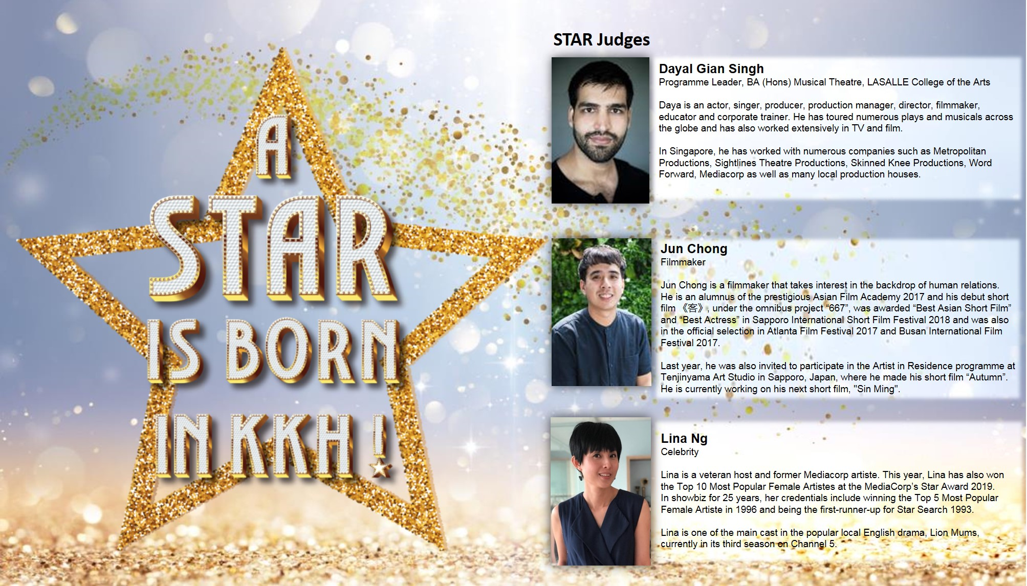 A Star is BORN IN KKH! Contest – STAR Judges