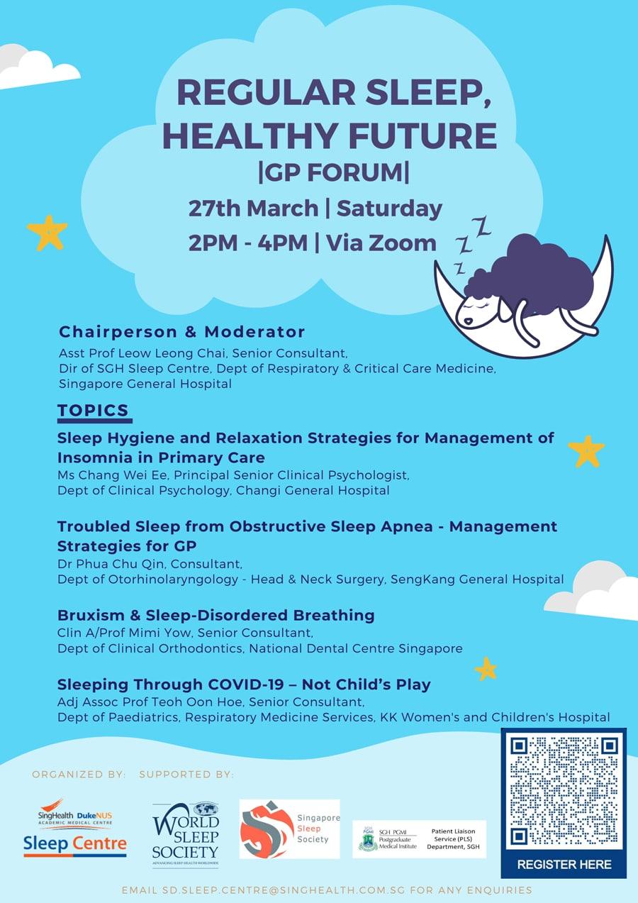 Regular Sleep Healthy Future GP Forum