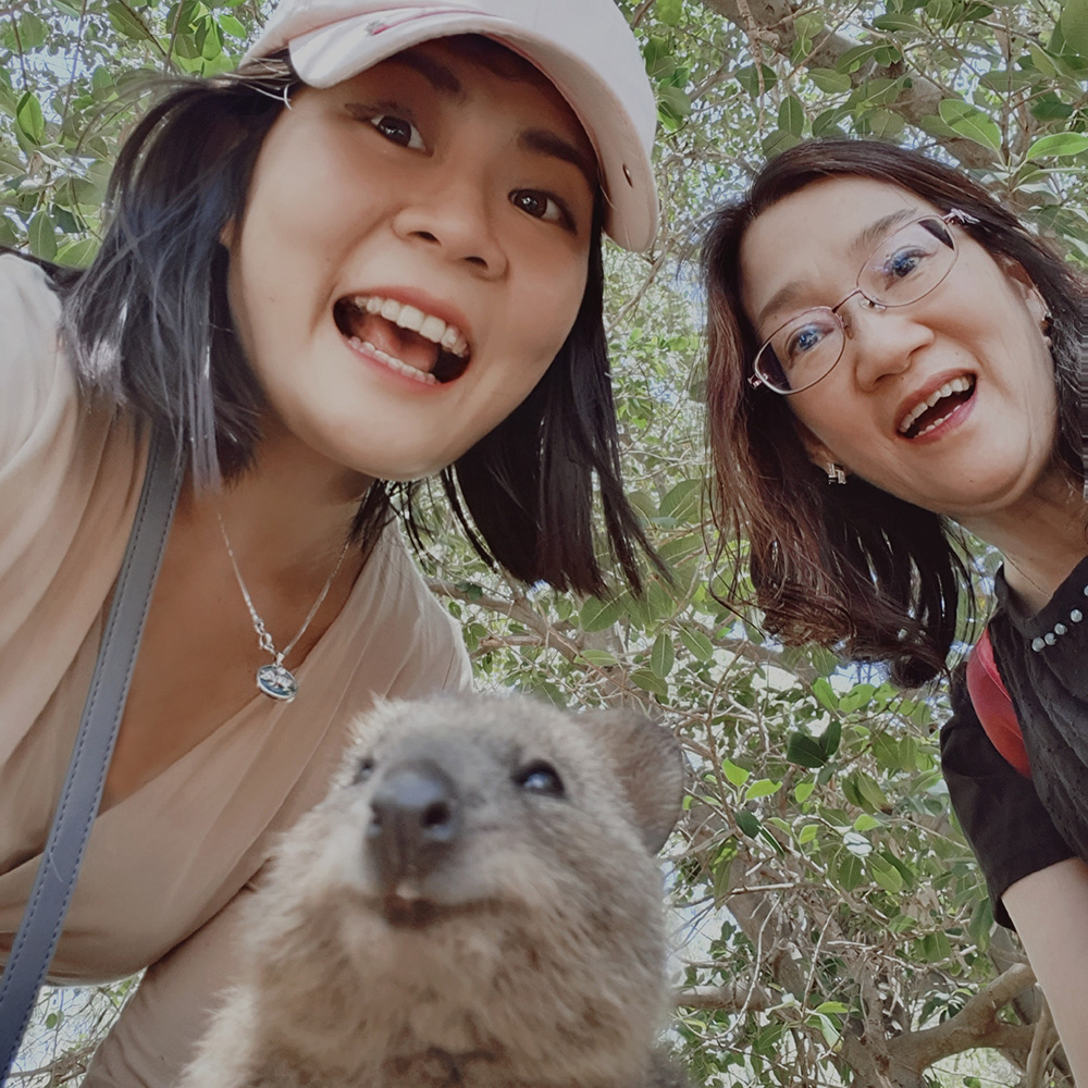 MO Tan (with her mum and a quokka) was doing her Haematology posting when she volunteered for the Isolation Ward in the early days of COVID-19 in Singapore.