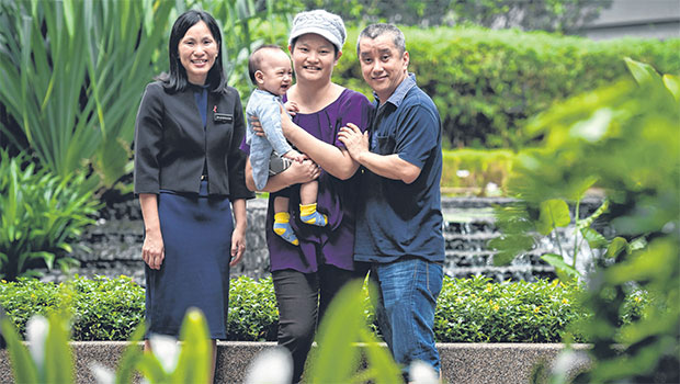 with Ms Judith Chew, the first patient in Asia to receive a transplant with the new technique. ST PHOTO DESMOND WEE
