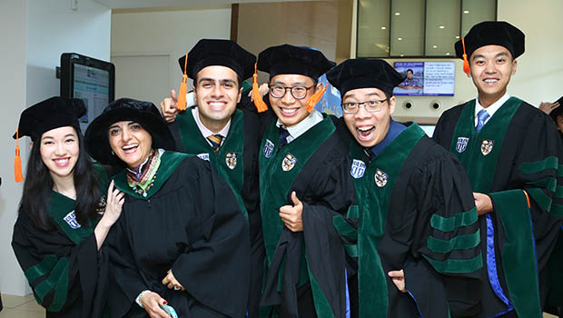 Meet all-rounder Dr Brian Chan (second from right) – Duke-NUS fresh graduate, stand-out peer leader and passionate volunteer – as he continues on his journey to becoming a holistic physician.